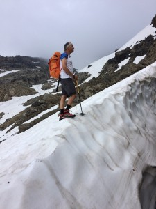 Tourist am Biancograt
